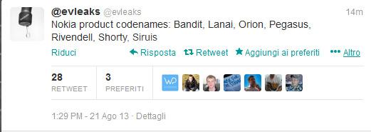 Nokia codename