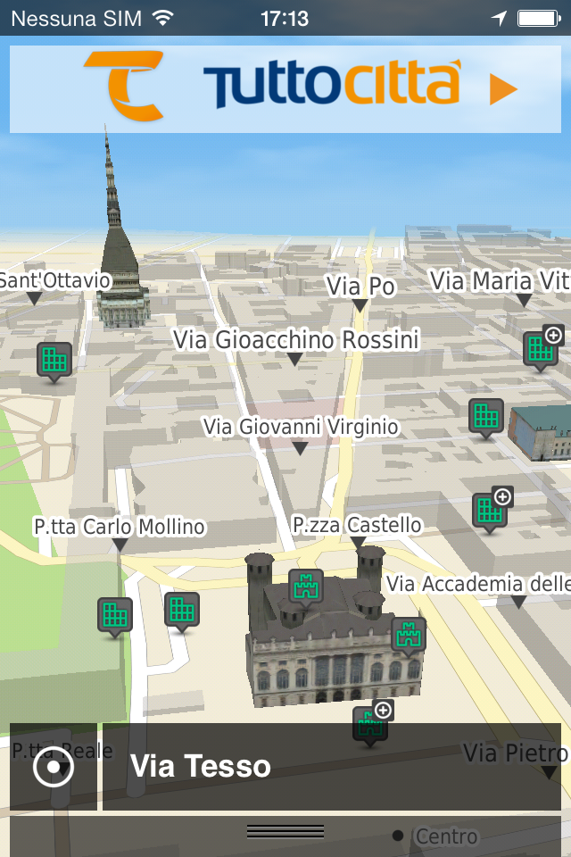 TuttoCittà Nav mappa