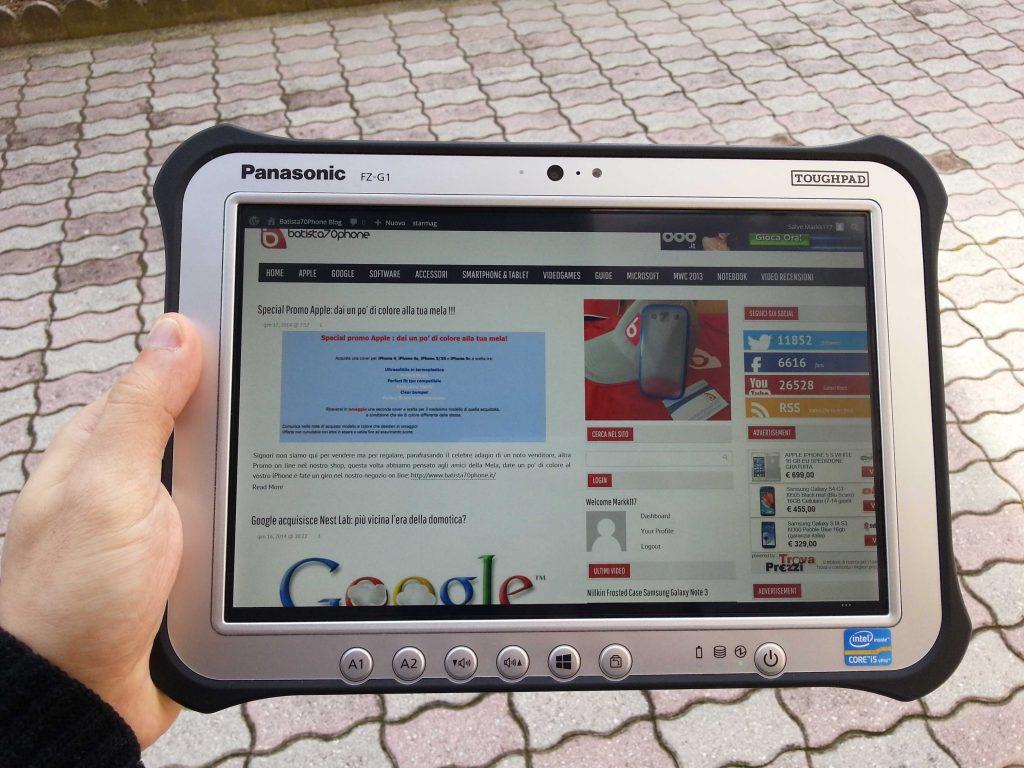 Panasonic FZ-G1  Visibilità