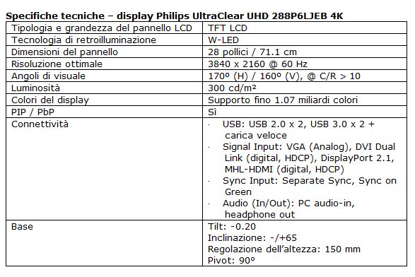 Philips Ultraclear UHD 4K specs