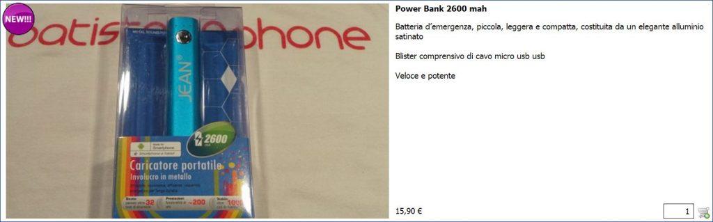 Power Bank 2600