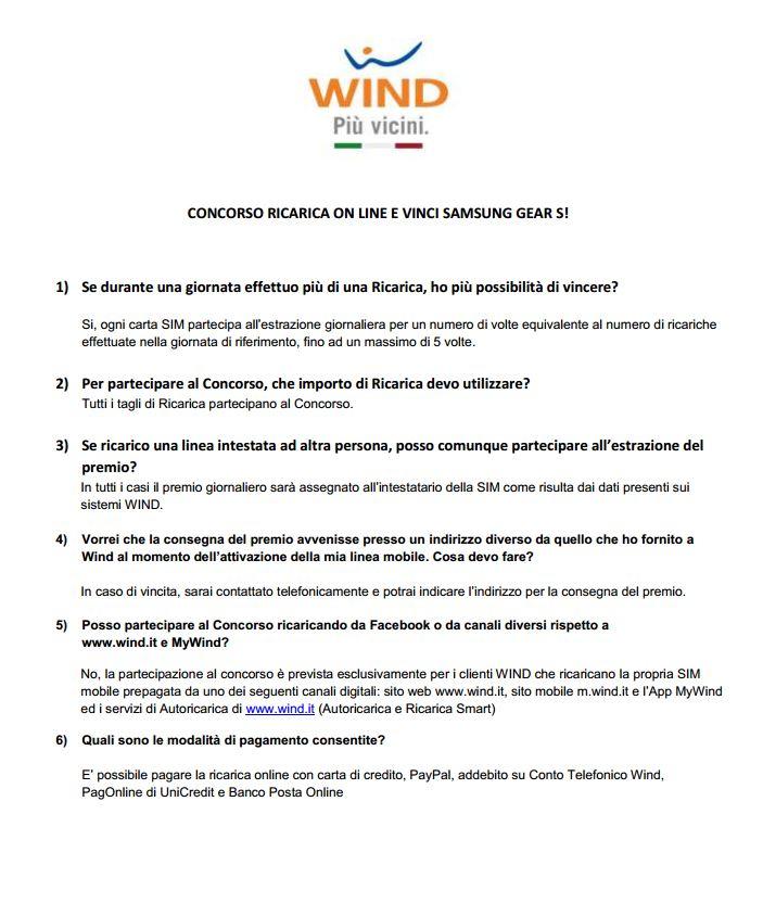 Regolamento concorso Wind