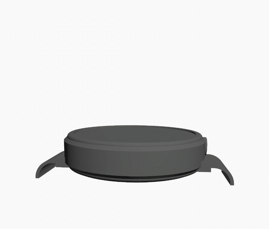 smartwatch render grigio